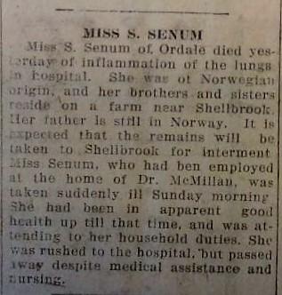 Flu_5 Nov 1918_Senum Obit