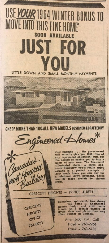 Crescent Heights_Ad_Nov 28 1964